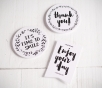 """Stickers for presents """"Happy"""""""