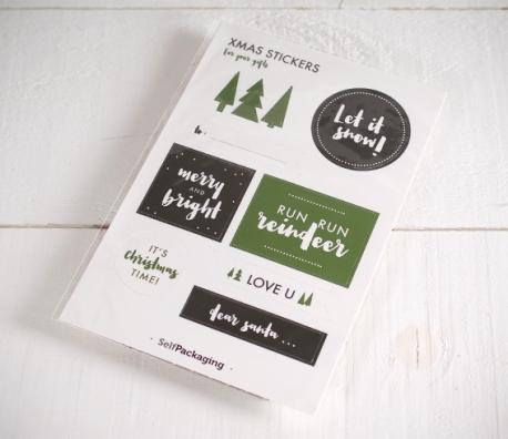 Pegatinas navideñas para regalos