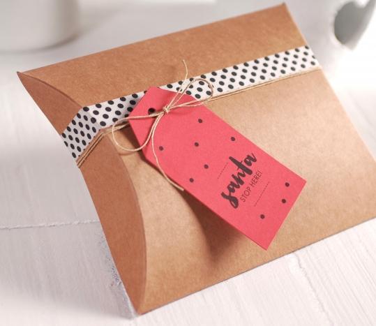 Caja para regalo Santa, stop here!