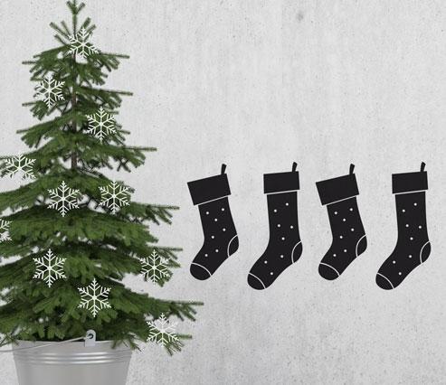 Vinilo navideño con calcetines