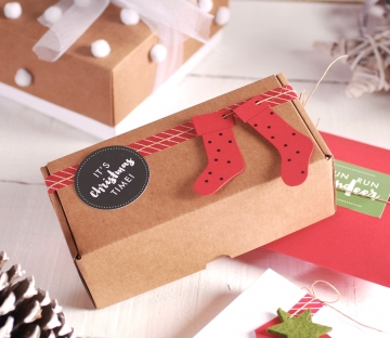 Caja alargada navideña