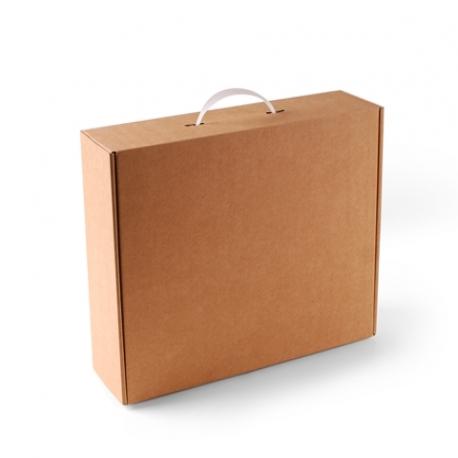 Scatola a valigetta con manico