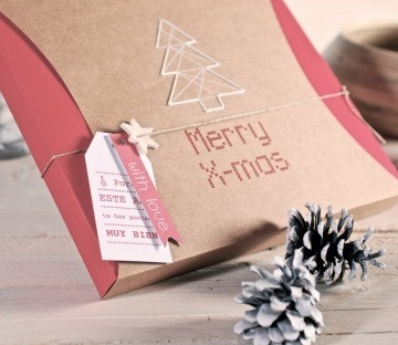 Sew on your boxes to give as a present