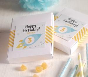 Caja para cumpleaños