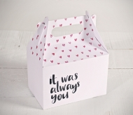 "Gift boxes with heart pattern ""Always you"""
