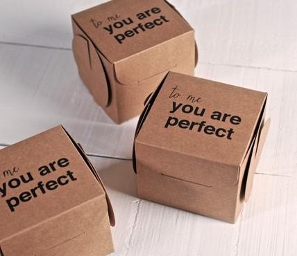 Scatole stampate con frase - You're Perfect