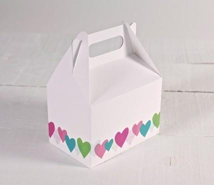 Box - Hearts pattern