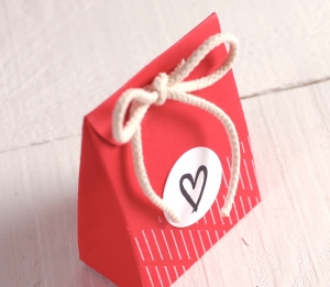 Red bag with heart
