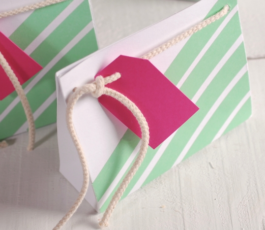 Small gift bag decorated