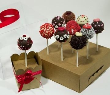 Caja transparente para cake pops