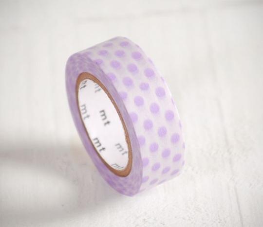 Washi tape lunares lilas
