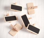 Mini chalkboards with a peg