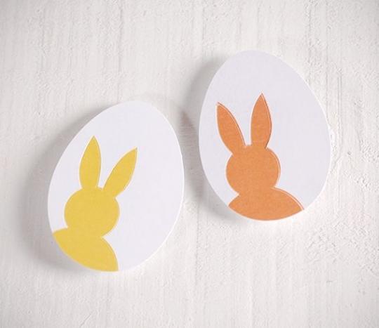 Adesivi a forma di Uova di Pasqua