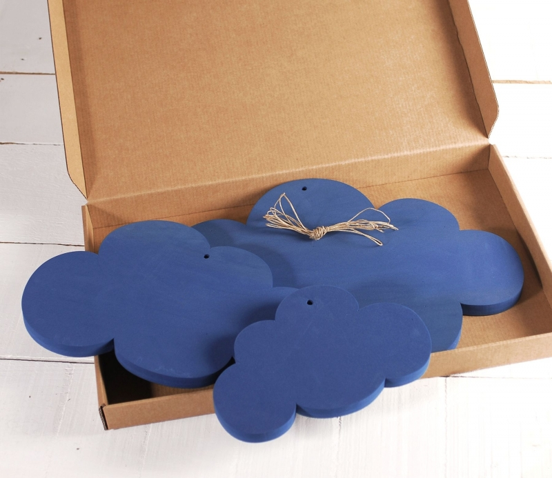 3 Nubes de Espuma en Azul ¡Decora de Forma Original!