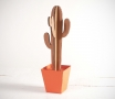 Tall cactus with a plant pot in several colours