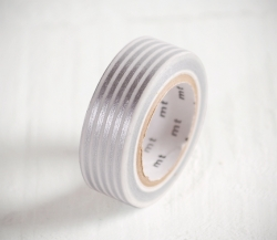 Silver striped Washi tape
