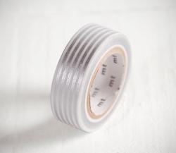 Washi tape con strisce argento
