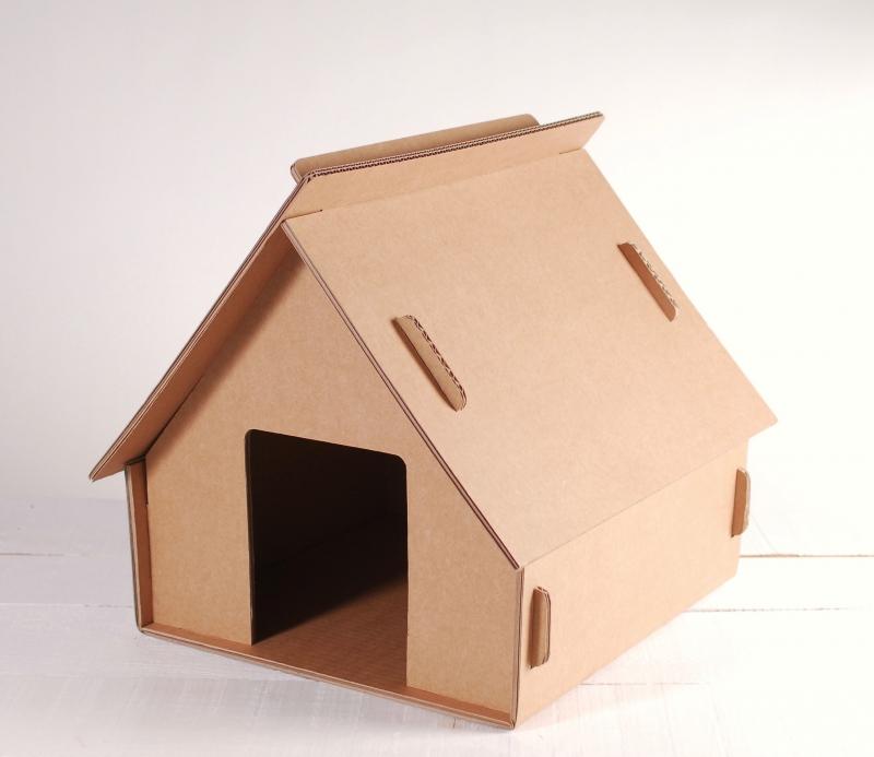 Casetta di cartone per bambini o gatti giocattoli di cartone for Casetta di cartone per bambini fai da te
