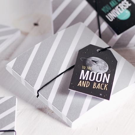Caja para CD con decoración galáctica
