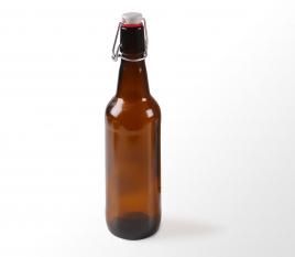 Bottiglia per birra con chiusura automatica
