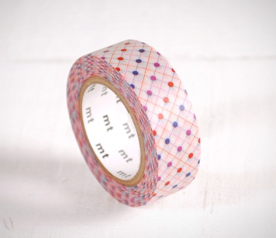 Washi tape with colourful spots