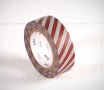 Washi tape a strisce marroni