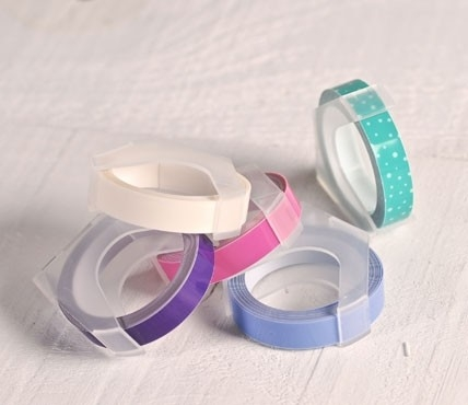 Dymo embossing tape rolls – Pastel colours