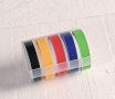 Embossing tape rolls – Bright colours