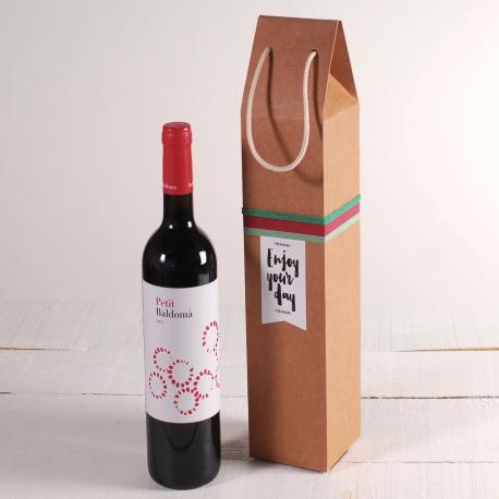Caja para vino con asa
