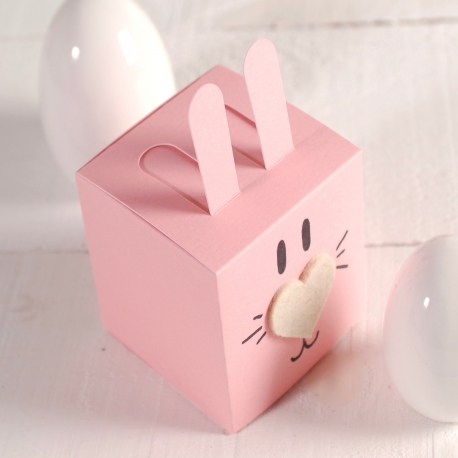 Square box in the shape of a bunny