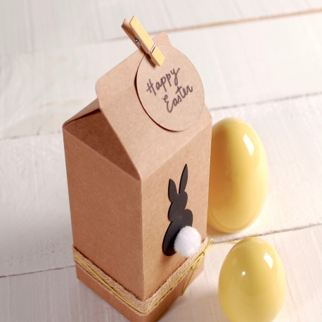 Carton shaped box for Easter