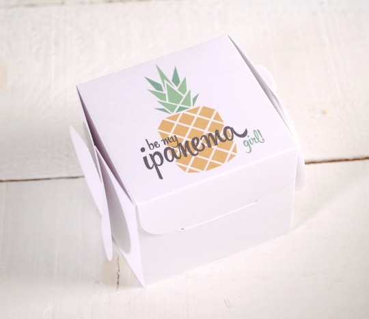 Printed gift boxes Pineapple