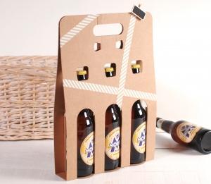 Caja decorada para 3 cervezas