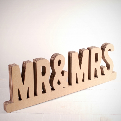 Mr & Mrs in cardboard
