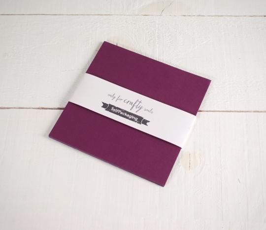 Sirio Wine coloured 16.5x 16.5 cm Card
