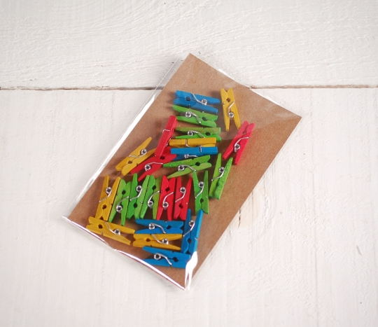 Colourful pegs