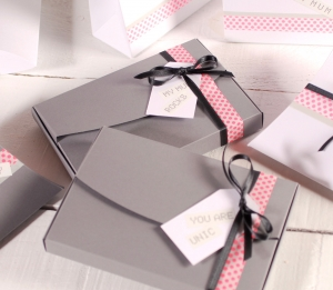 Boxes with love messages