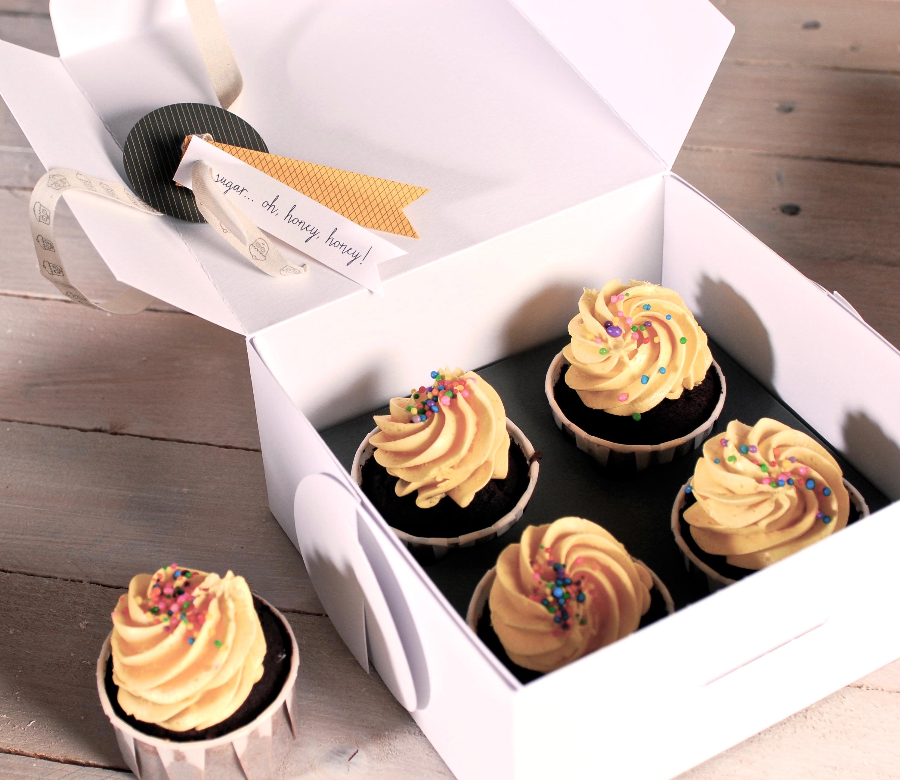 Caja de Cartón para Cupcakes Original
