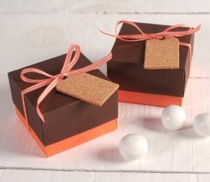 Cute box with cork tag
