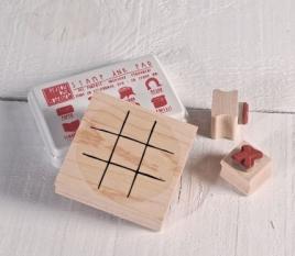 """Kit de sellos """"Tres en raya"""""""
