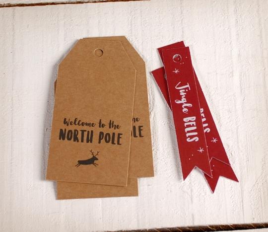 Etiquetas navideñas Polo Norte