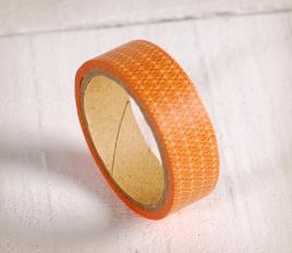 Washi tape with an orange geometrical pattern