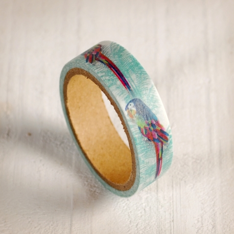 Washi tape with parrots