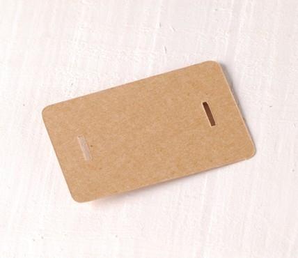 Cardboard clasp tags