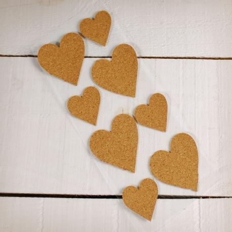 Adhesive cork hearts