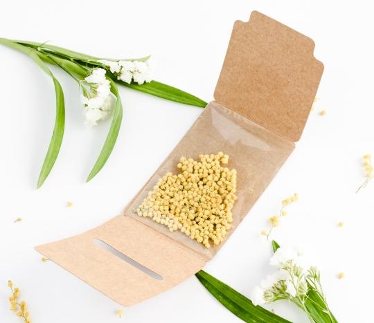 Cajita semillas para regalar a los invitados