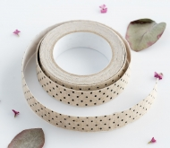 Fabric tape topos negros
