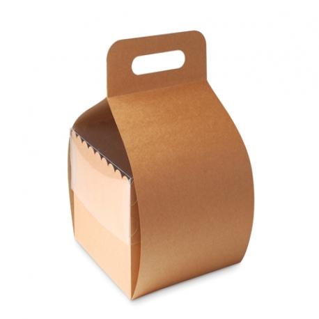 Kuchen-Schachtel mit Griff und Deckel