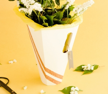 Caja para ramos de flores mínimal