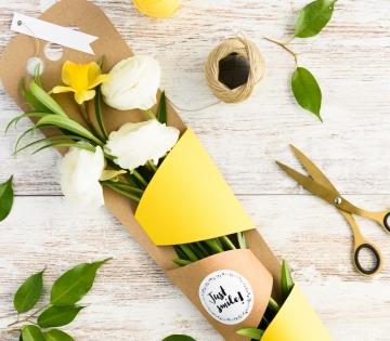 Scatola per regalare fiori